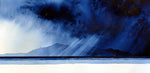 Arran Blues.  Original Watercolour Painting 39x19 cms)