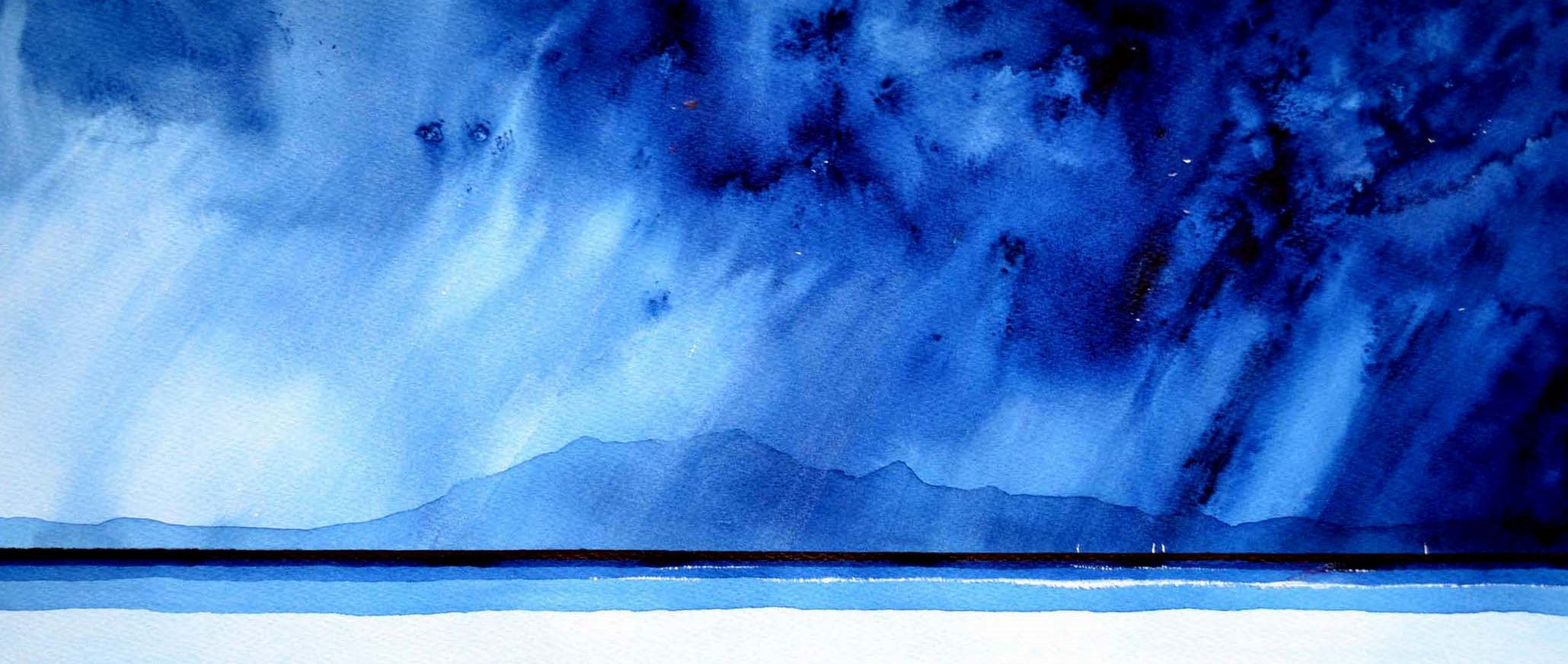 Arran Sails. Original Watercolour Painting 23 x 53 cm P.O.A.