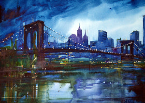 Brooklyn Bridge Rectangular Print