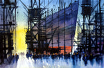 Clyde Fading Light.. Original watercolour by Martin Oates 52x34 cms
