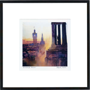 Edinburgh Sunset  Framed Print