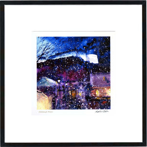 Edinburgh Winter  Framed Print