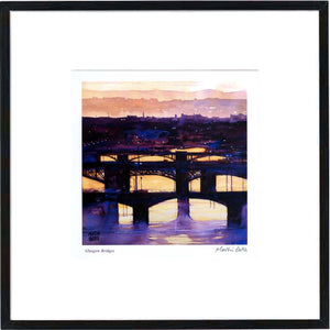 Glasgow Bridges  Framed Print