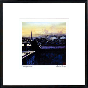 Glasgow Roofs  Framed Print