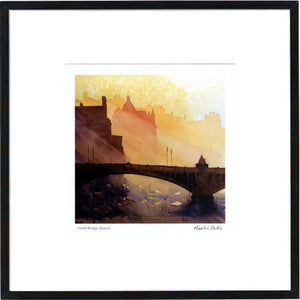 North Bridge Sunset  Framed Print