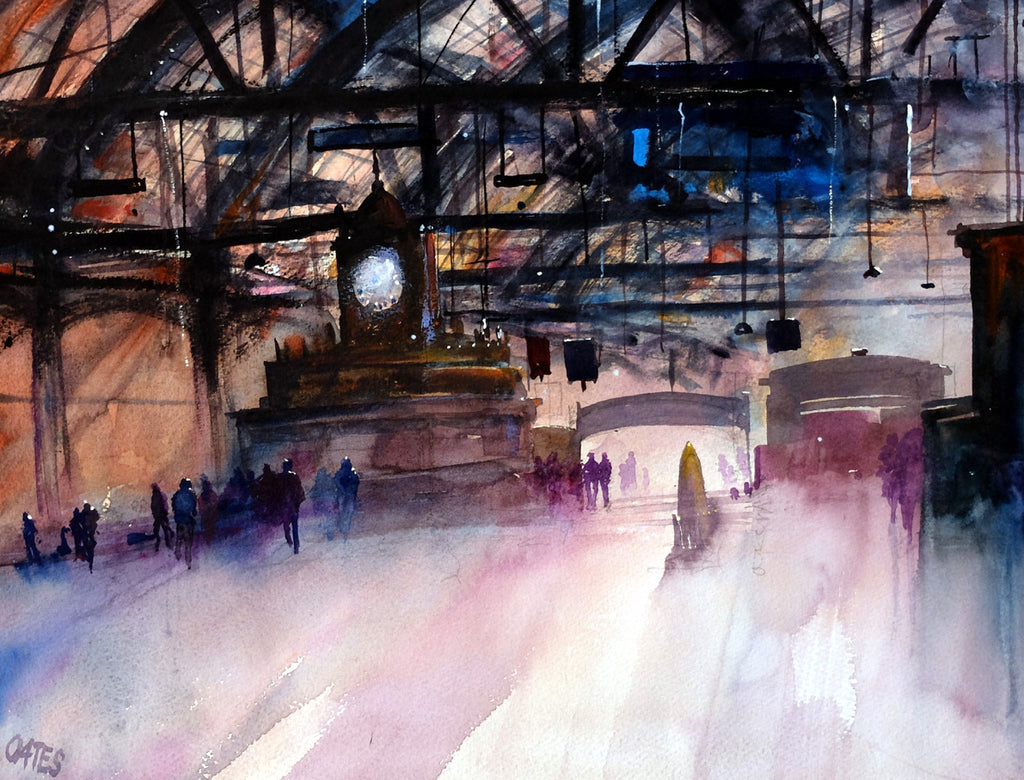 Glasgow Central Station Original Watercolour Painting  30 x 40 cm P.O.A.