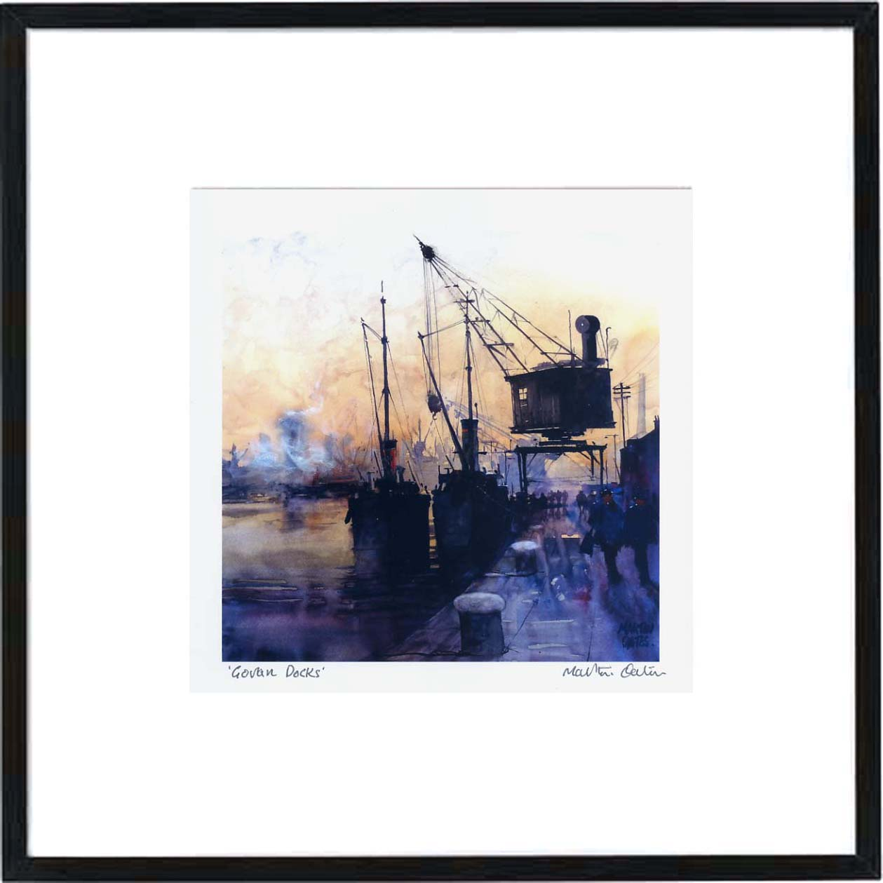 Govan Docks Framed Print