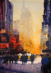 New York Haze . Original watercolour by Martin Oates 48 x 68 cm