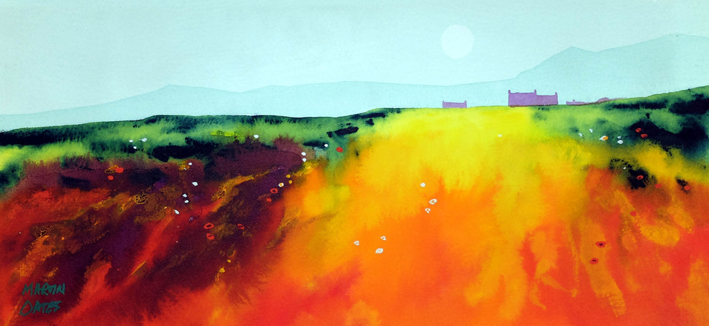 Morning Argyll.  Original Watercolour Painting 37x17 cm