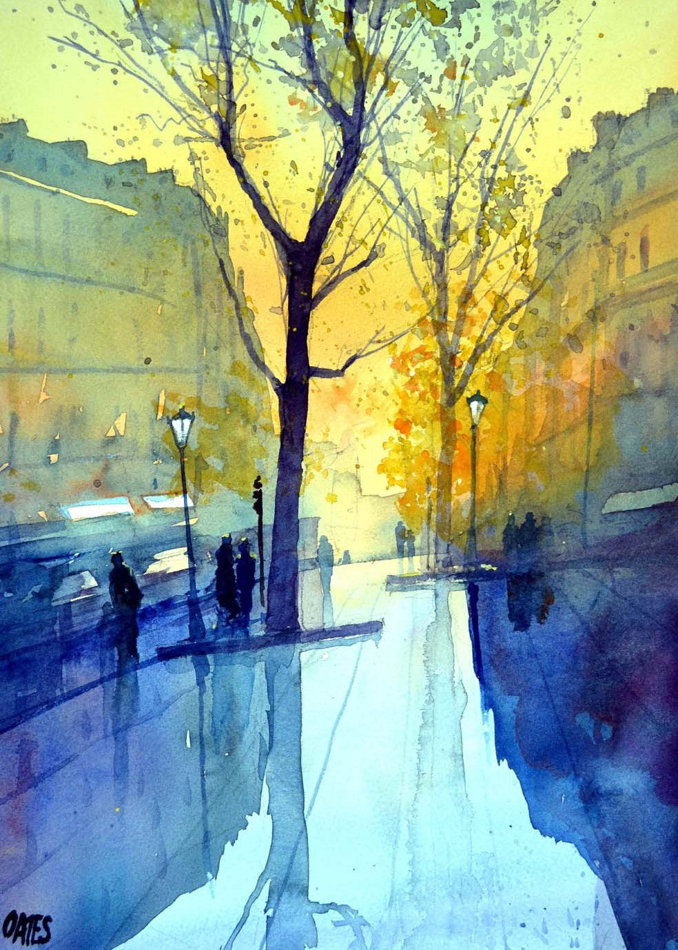 Paris Rain 1 Rectangular Print.