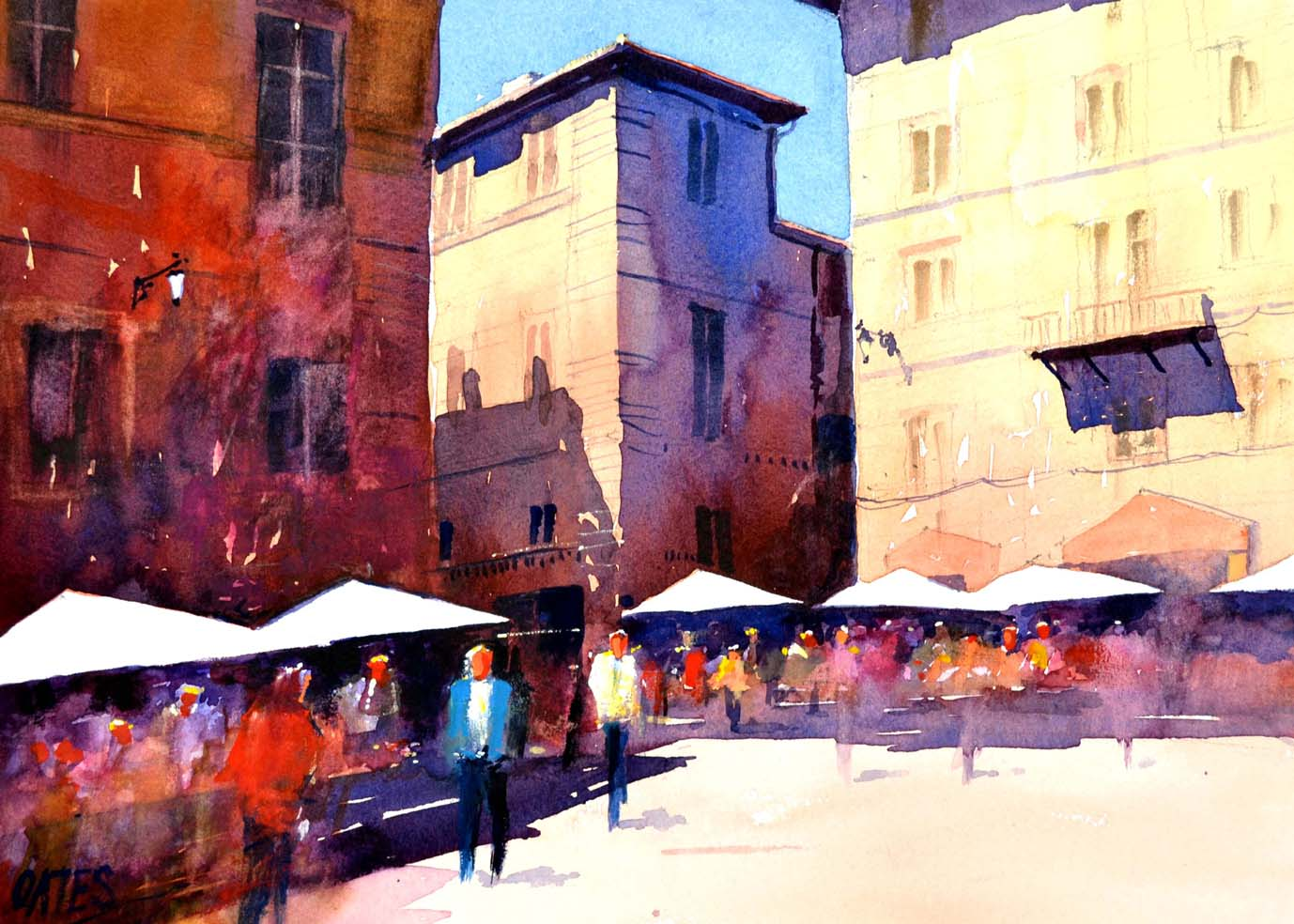 Rome Shadows Rectangular Print.