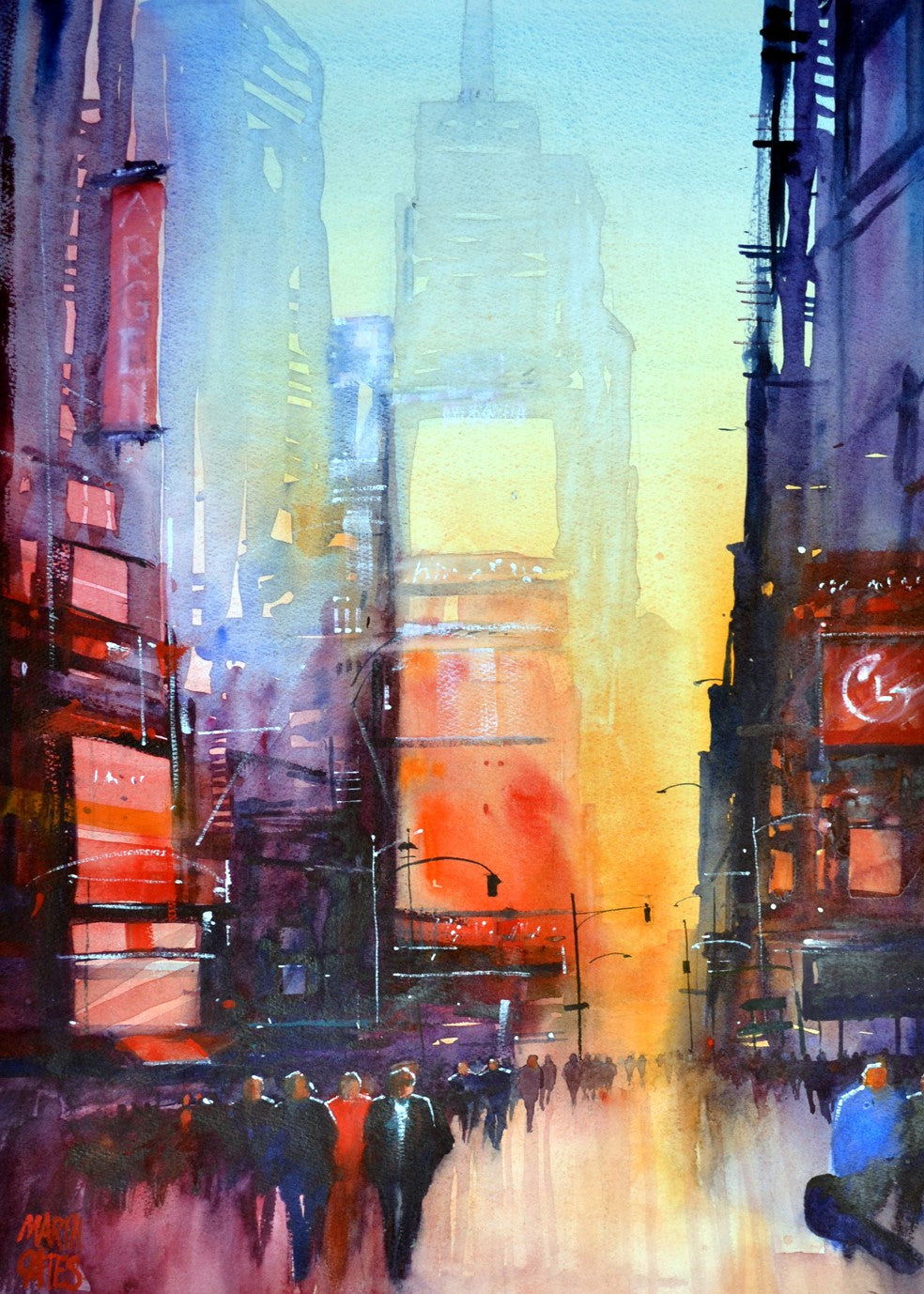 Times Square Rectangular Print.