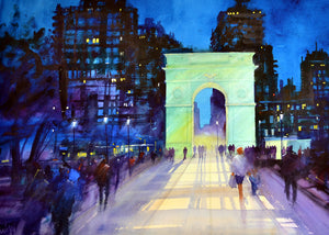 Washington Square N.Y. Rectangular Print.