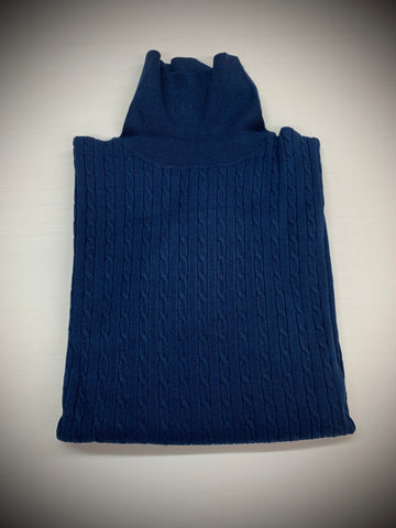 BLUE CORDED TURTLENECK