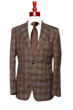 Made to Measure 2-Button Brown Checkered Plaid
