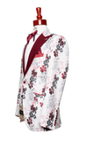 Made to Measure 2-Button White Floral Tuxedo Jacket
