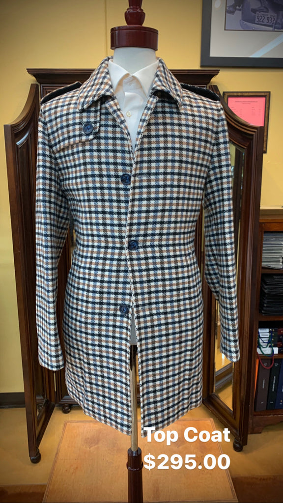 Houndstooth Topcoat