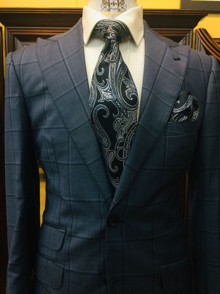Blue w/ Navy Windowpane