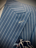 Blue w/ White Pinstripe