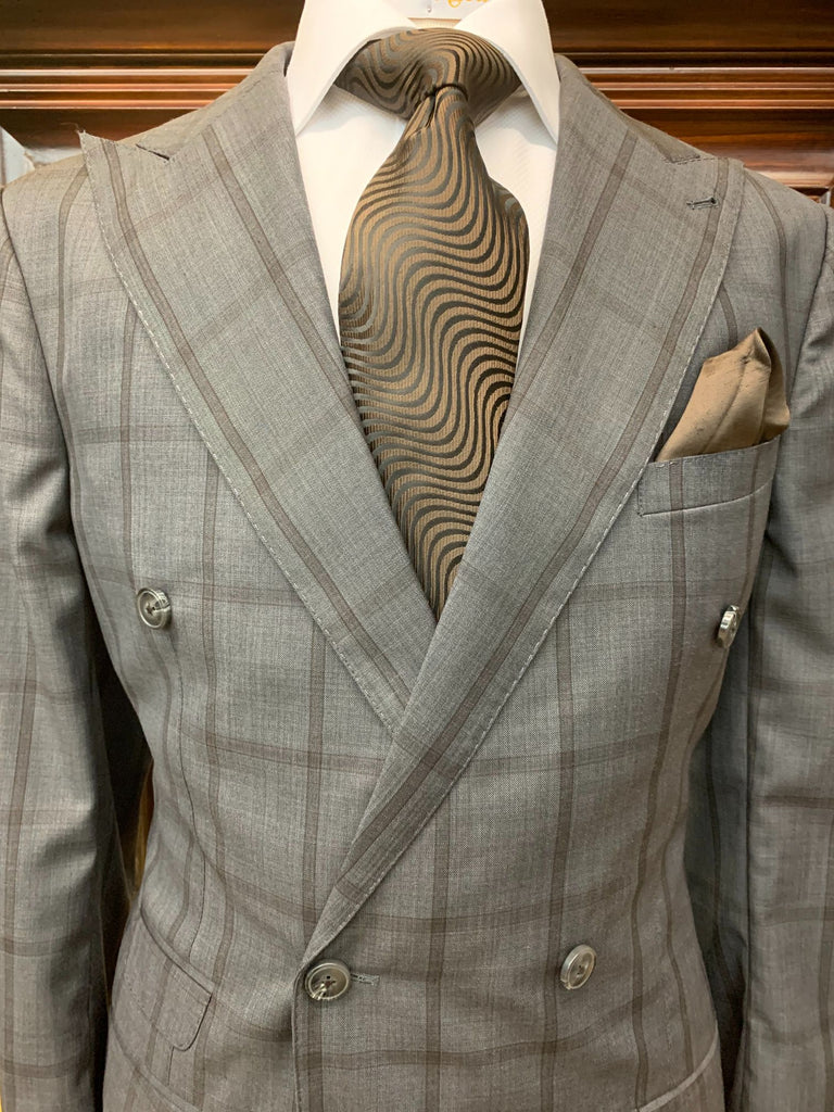 Gray w/ Brown Windowpane