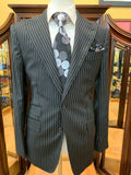 Black w/ White Pinstripe Suit