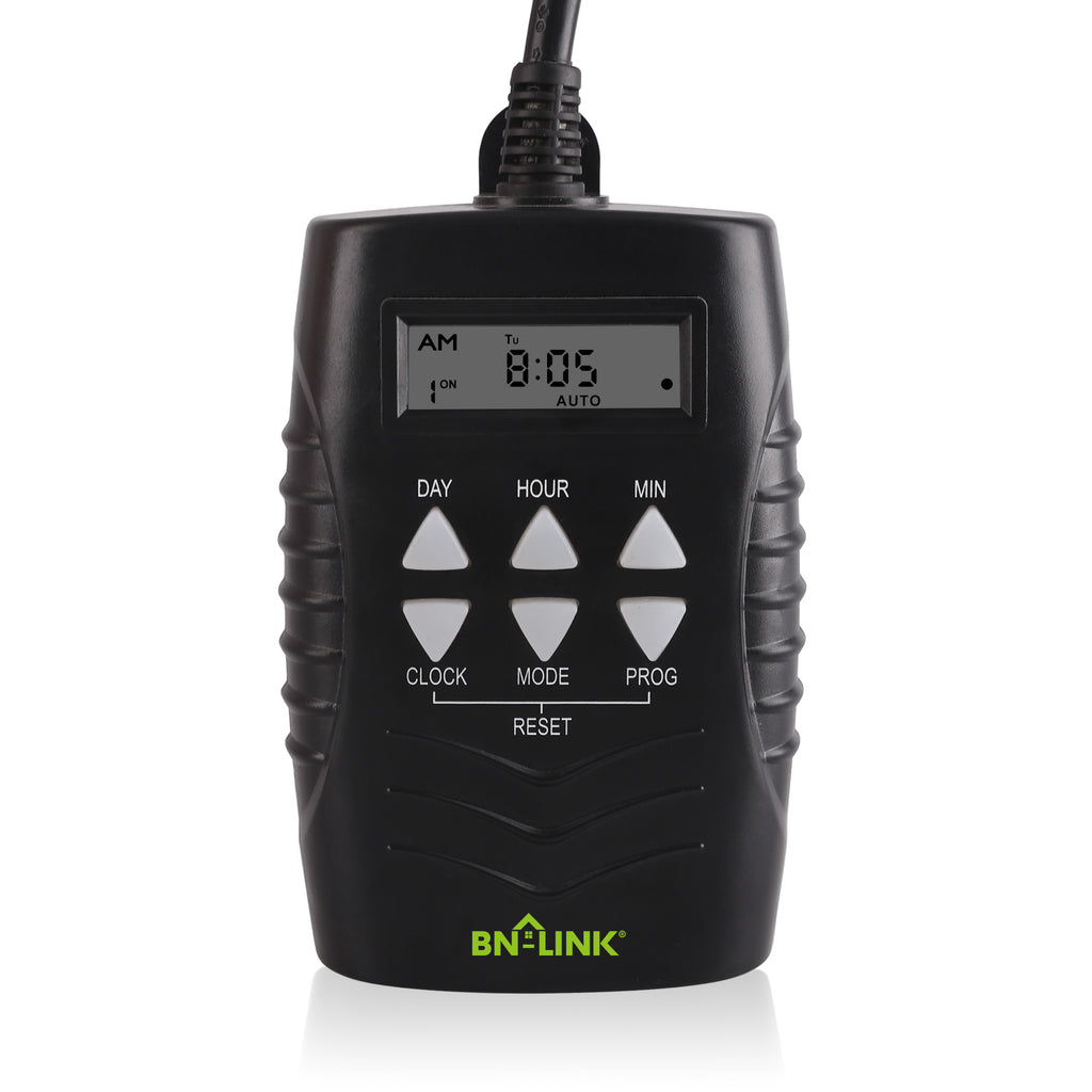 BN-LINK 7 Day Heavy Duty Digital Programmable Timer - Dual Outlet (Outdoor) - BN-LINK