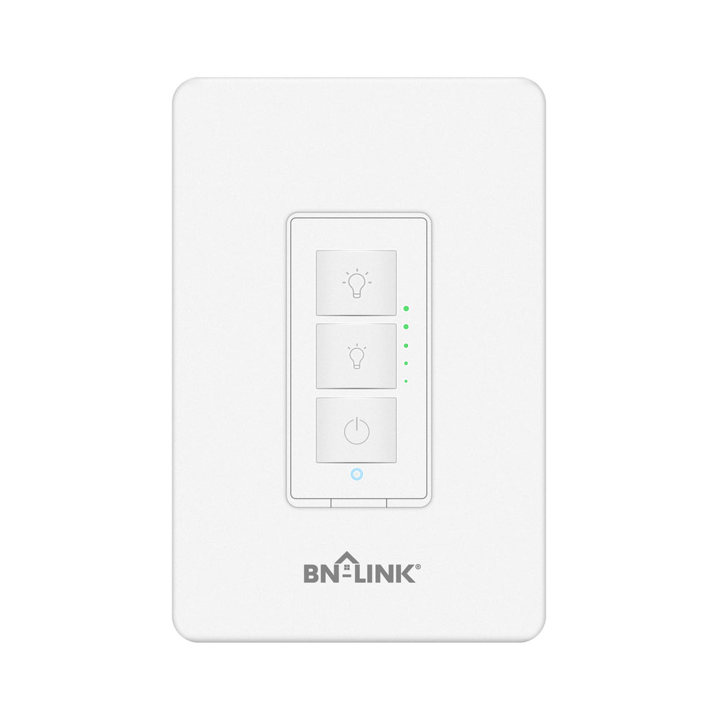 BN-LINK Smart Dimmer Switch - Dimmable LED, Halogen and Incandescent Bulbs - Compatible with Alexa and Google Assistant - Single-Pole ONLY - No Hub Required