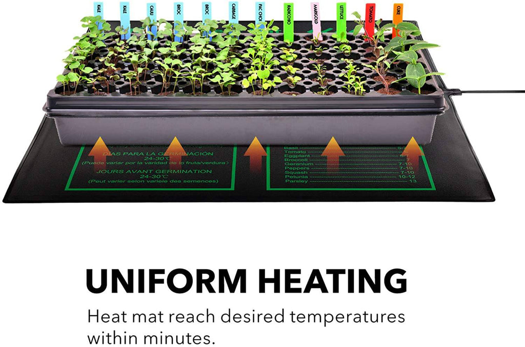 "Bn-LINK Seedling Heat Mat 20"" x 20.75"" with Heating Thermostat Outlet Controller - BN-LINK"