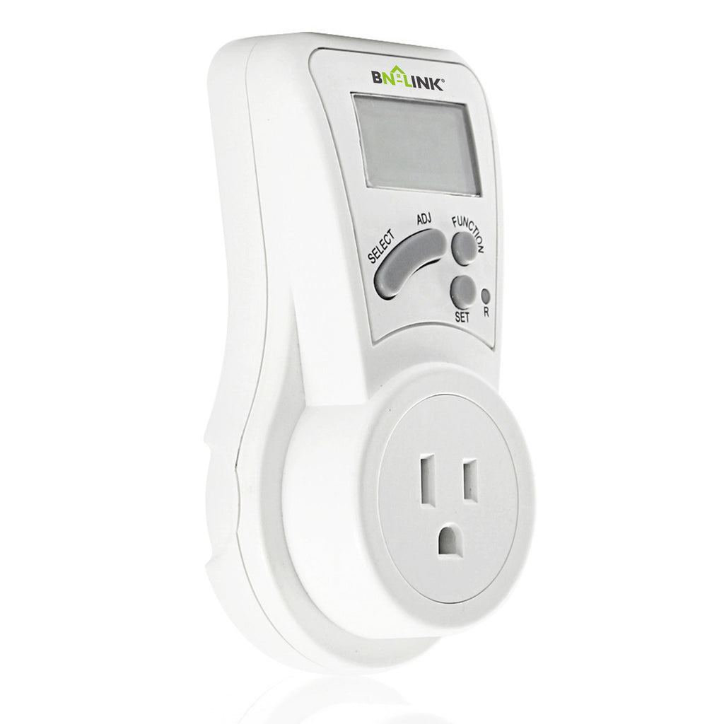 BN-LINK LCD Plug in Power Energy Meter Voltage Amps Electricity Usage Monitor Wall Socket Outlet - BN-LINK