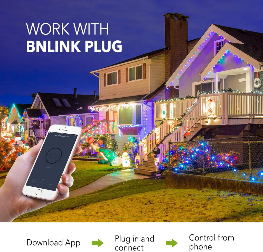 BN-LINK Heavy Duty Wi-Fi Timer with One Grounded Outlet - BN-LINK