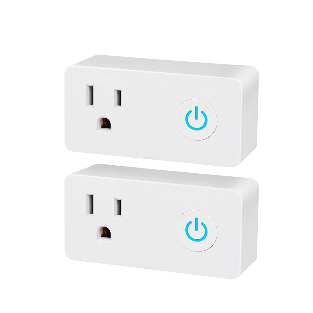 BN-LINK 2 Pack Smart WiFi Outlet, Hubless with Energy Monitoring and Timer Function,Compatible with Alexa and Google Assistant - BN-LINK