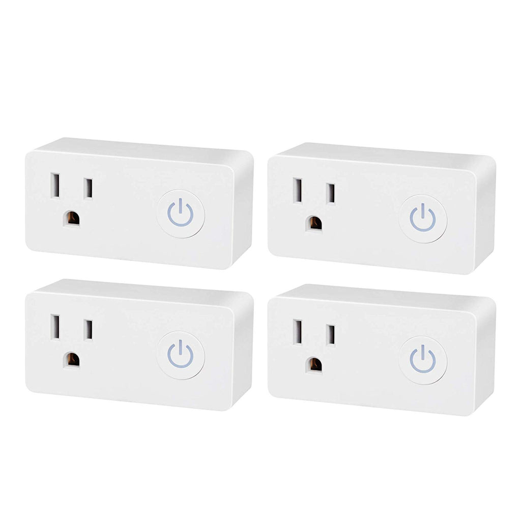 BN-LINK 4 Pack Smart WiFi Outlet, Hubless with Energy Monitoring and Timer Function, White, Compatible with Alexa and Google Assistant - BN-LINK