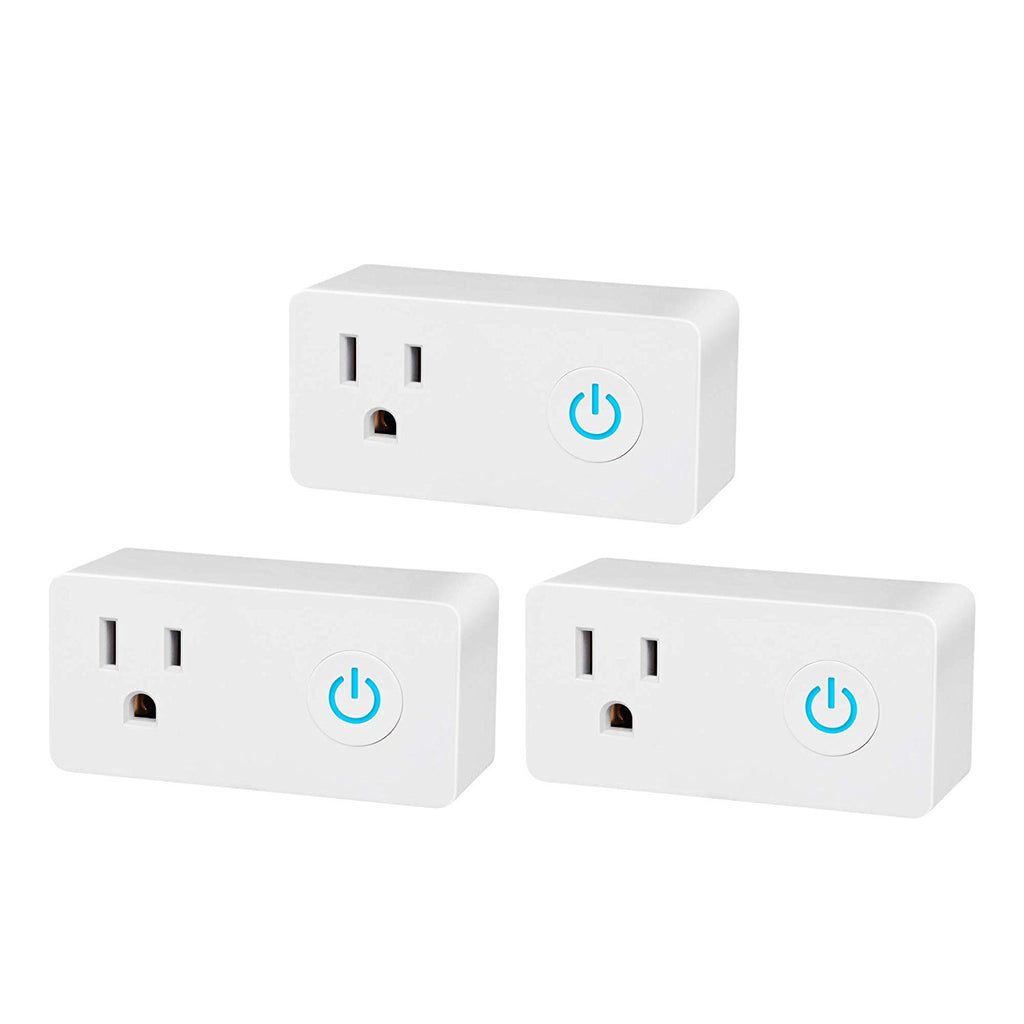 BN-LINK Smart WiFi Outlet Compatible with Alexa and Google Assistant (3-Pack)