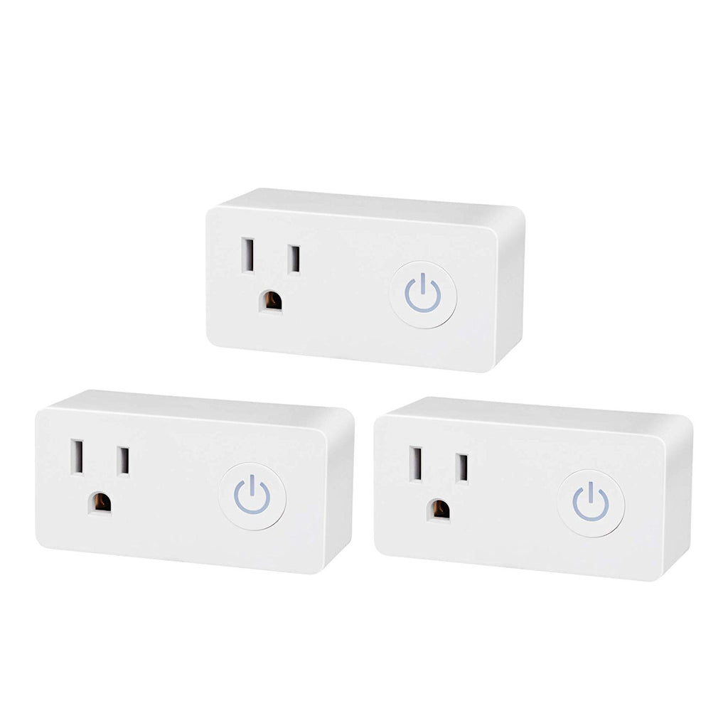 BN-LINK Smart WiFi Outlet, Hubless with Energy Monitoring and Timer Function, No Hub Required, White, Compatible with Alexa and Google Assistant (3-Pack)