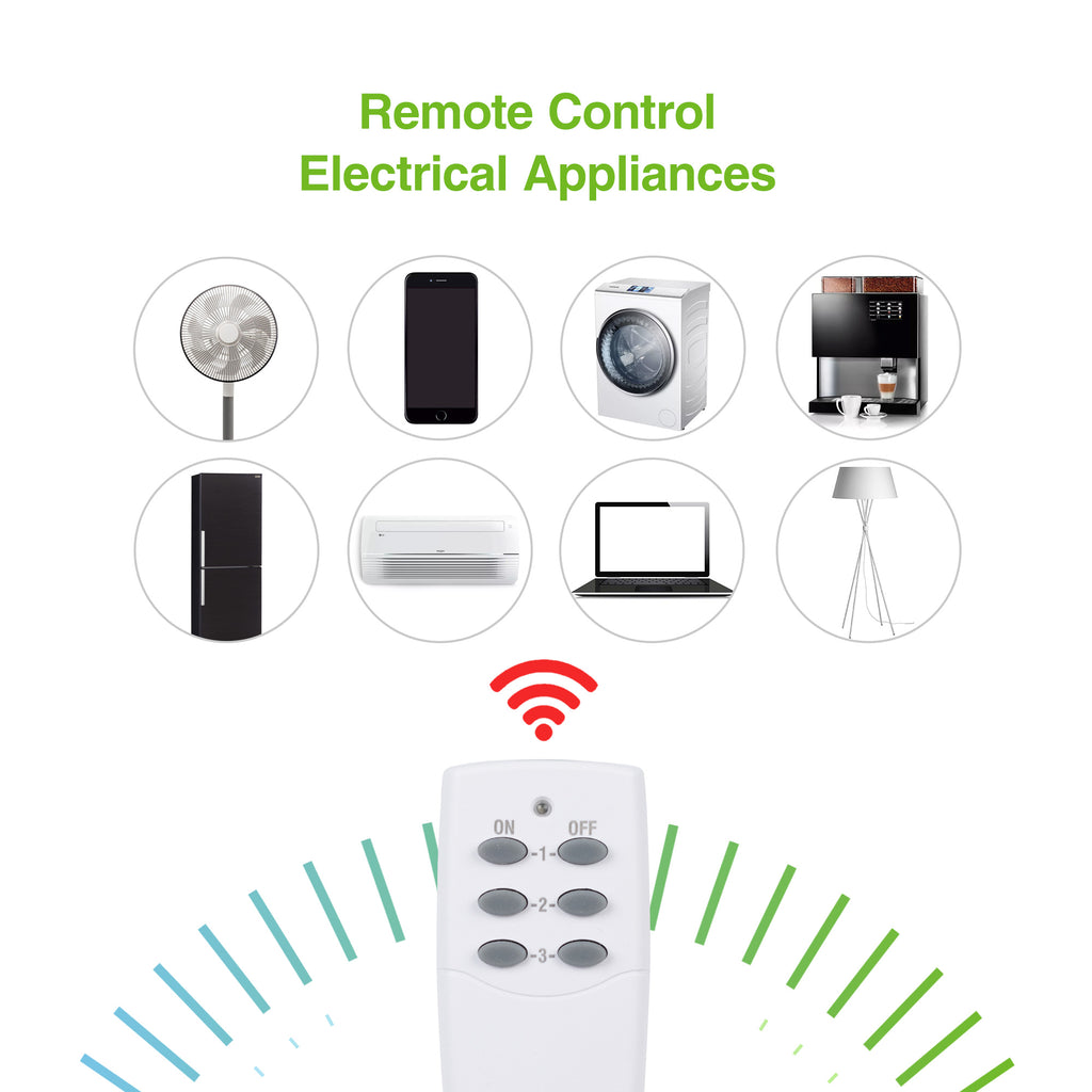 BN-LINK Wireless Remote Control Outlet (1 Remotes + 3 Outlets) Value Pack - BN-LINK