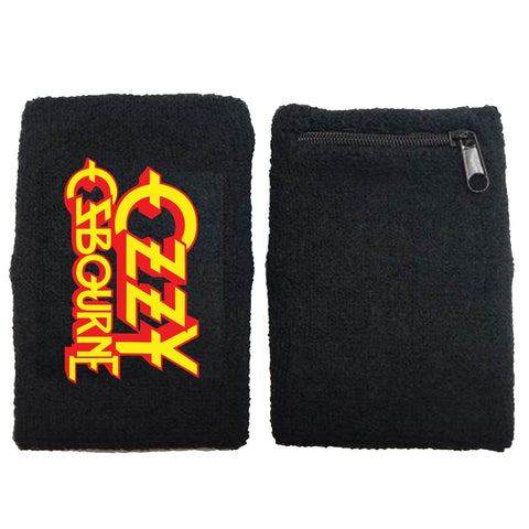Classic Logo Terrycloth Zippered Wristband