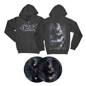 Ordinary Man & Snake Zip Hoodie + Choose Your Music Bundle