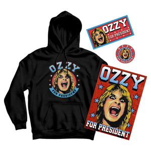 Ozzy for President Hoodie Bundle