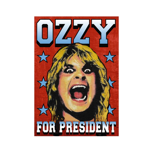 Ozzy for President Lithograph