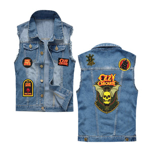 Denim Patchwork Vest
