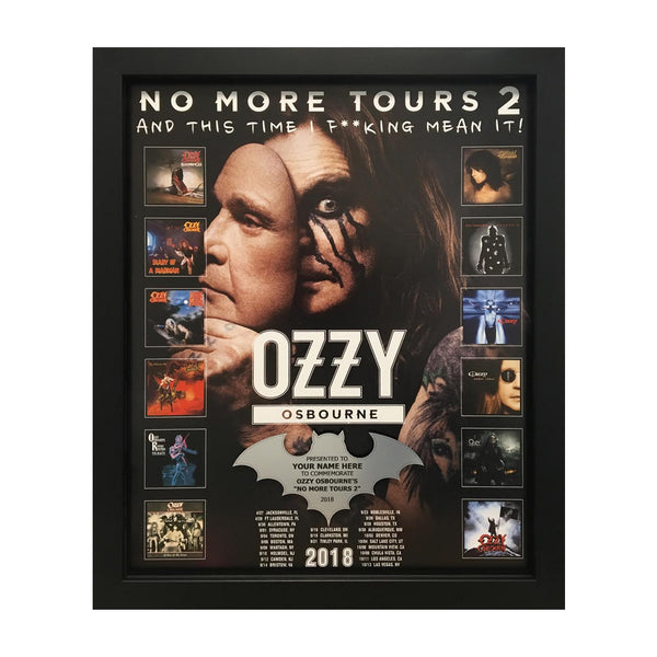 No More Tours 16x20 Personalized Plaque
