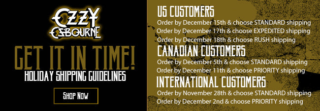 Shipping Deadlines for Ozzy Osbourne Official Store
