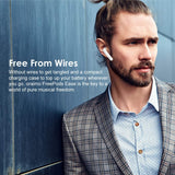 oraimo FreePods-Ease True Wireless Stereo Earbuds TWS Wireless Bluetooth Half-in-Ear Headphones with Remote Control & Mic