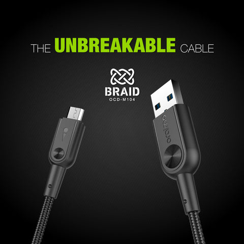 oraimo Braid The Unbreakable Cable - Whatnot India