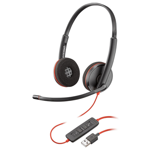 Plantronics Blackwire 3220 Corded UC Headset - USB-A / USB-C