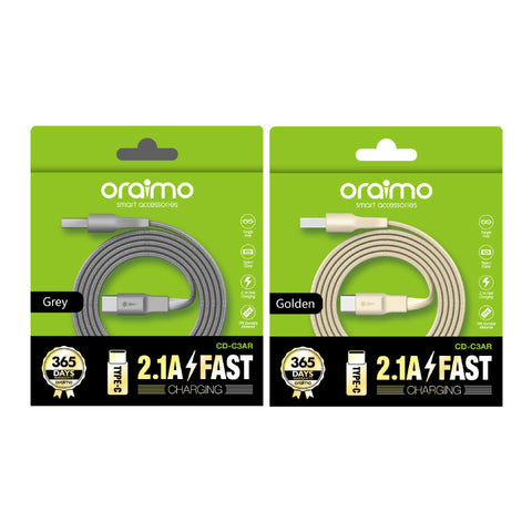 oraimo 2.1A Fast Charging Reversible Design cable  CD-C3AR-1 - Whatnot India