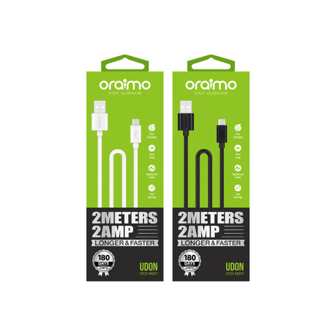 oraimo Udon 2MX2A Longer and Faster Charging Cable OCD-M201