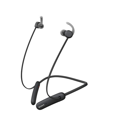 Sony WI-SP510 Wireless Sports Extra Bass in-Ear Headphones with 15 hrs Battery Life, Quick Charge, Magnetic Earbuds, Bluetooth Ver 5.0, Headset with Mic for Phone Calls - Black