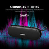oraimo SoundPro Portable 10W Wireless Bluetooth Speaker Compatible FM Radio & AUX Input/USB Disk/TF Card Music Play Function with Microphone