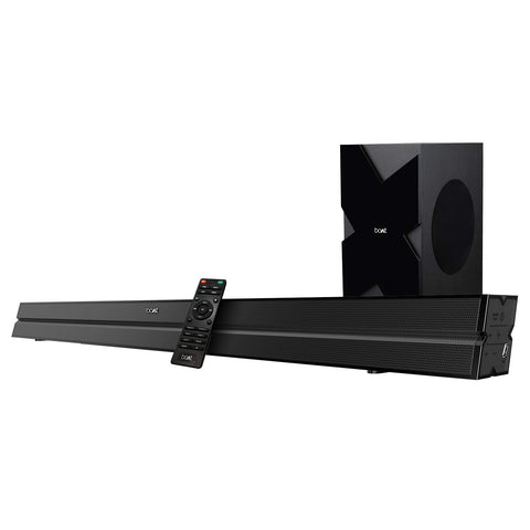 boAt AAVANTE BAR 2000 160W Bluetooth Soundbar with 2.1 Channel boAt Signature Sound, Wireless Subwoofer, Multiple Compatibility Modes, Sleek Design and Entertainment EQ Modes (Black) - Whatnot India